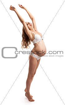 Portrait of happy beautiful pregnant woman