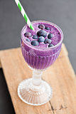 Blueberry milk smoothie