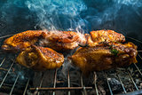 BBQ barbecue Baked Chicken legs meat food roast grilled
