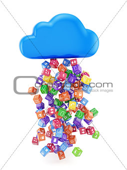 cloud with application icons