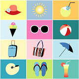 icons to the summer recreation