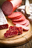gourmet sliced salami