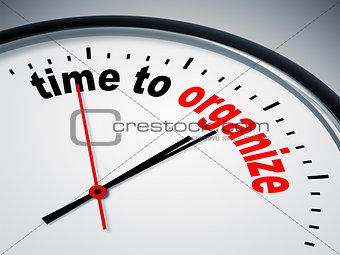 time to organize