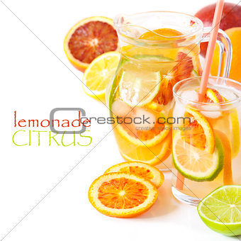 Homemade lemonade.