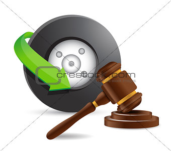 accident lawyer concept illustration design