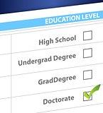 doctorate education level survey