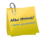 hiring retail salespersons post illustration