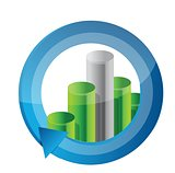 business graph cycle illustration design