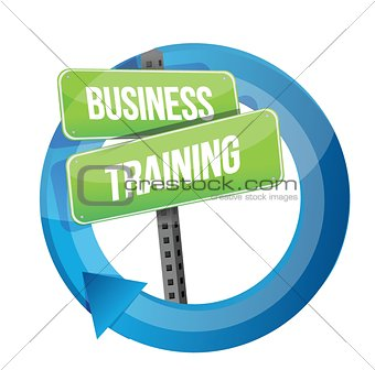 business training road sign cycle