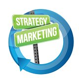 strategy and marketing illustration design
