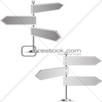 Black-and-white signpost