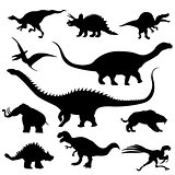 Dinosaur silhouettes collection