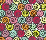Seamless pattern with swirls.