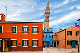 Leaning Tower In Burano