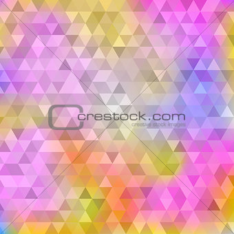 Abstract yellow pink triangle background