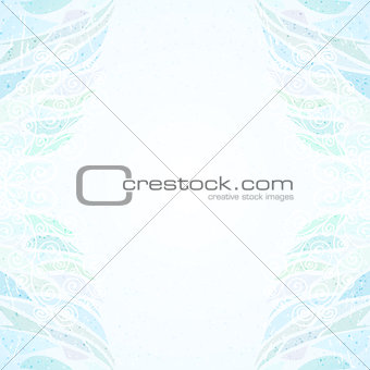 Abstract blue floral card vertical
