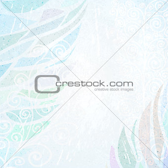 Abstract blue grunge card