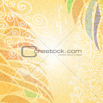 Abstract bright beige grunge background bottom right