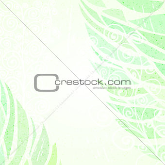 Abstract green floral background left