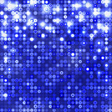 Dark blue abstract sparkling background with circles
