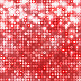 Red abstract sparkling background with circles