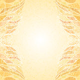 Abstract bright beige floral card vertical
