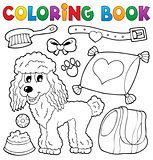 Coloring book dog theme 4