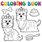 Coloring book dog theme 6