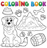 Coloring book dog theme 7