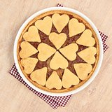 heart spahes on apple pie