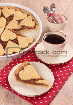 apple pie with hearts