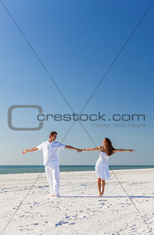 Man Woman Couple Dancing on Empty Beach