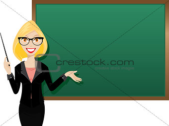 Blond teacher