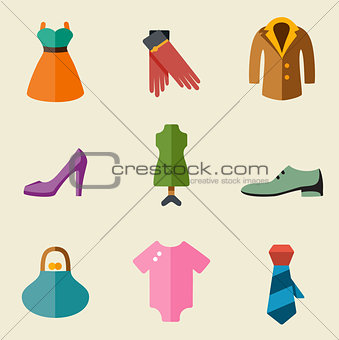 Fashion color icon set