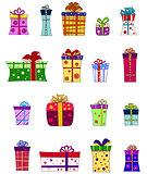Fancy gift box set - vector