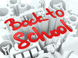 Back to School Concept on White Background.