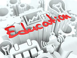 Education Concept on White Background.