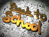 Back to School Background with Handwritten Characters.
