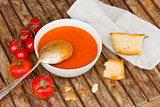 Gazpacho with tomatoes