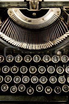 Vintage Antique Typewriter Keyboard Keytop
