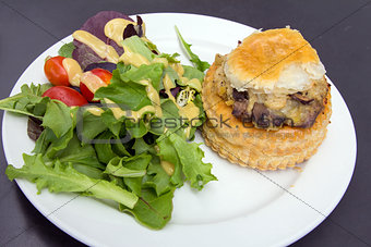 Chicken Pot Pie with Salad