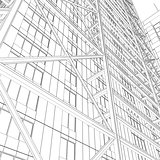 Skyscraper rendering in lines