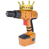 Orange screwdriver and a crown