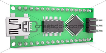 Computer board with chips and USB output