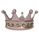Bronze crown decorated with yellow sapphires