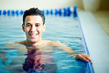 Guy in swimming pool