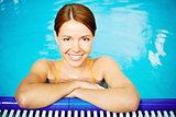 Pretty swimmer