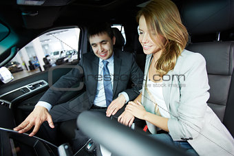 Sitting in car