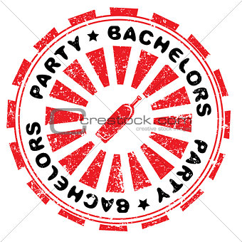 bachelors party stamp