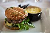 Gourmet Organic Cheeseburger